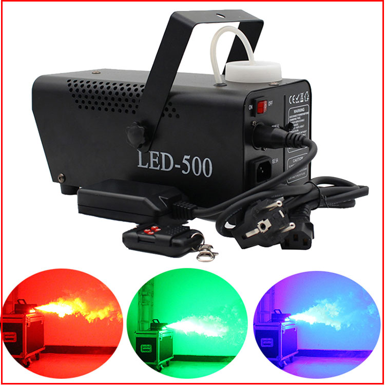 fast shipping disco colorful smoke machine mini LED remote fogger ejector dj Christmas party stage light fog car (2)