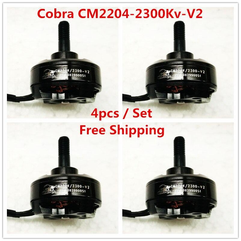 Cobra Motor CM2204-2300-V2 Super Combo Pack, 4pcs per set, Brushless Motor for Mini drone,Fpv racing, Free Shipping