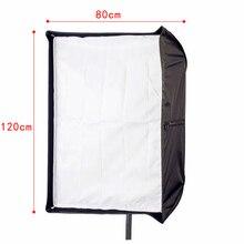 "Estúdio de fotografia 80 cm x 120 cm/32 ""* 48"" Retângulo de Guarda-chuva Softbox Estúdio de Fotografia Suave Caixa mesa de luz Para SpeedLight Flash/"