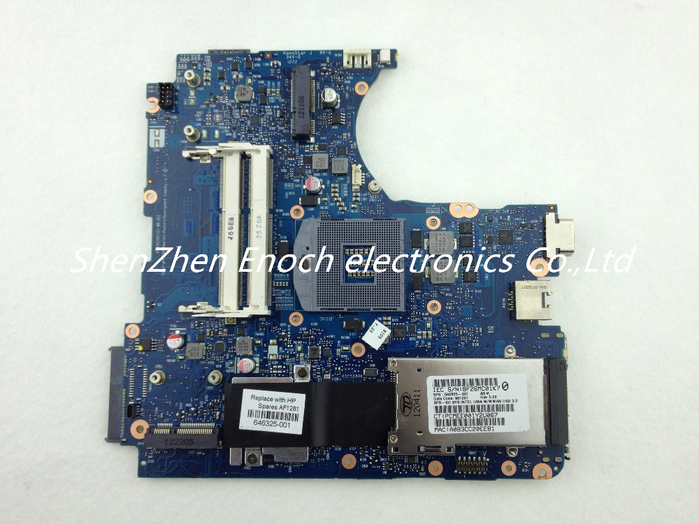 Подробнее о 646325-001   for HP Probook 4330S Laptop motherboard Integrated  6050A2465101-MB-A02        stock No.199 original 686036 001 for hp probook 6470p motherboard 686040 001 hm76 integrated 100