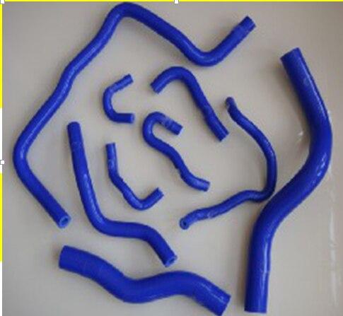 Kit de tuyau de radiateur en Silicone pour Honda FIT L13/15 GE8 2009 ~ (9 pièces) rouge/bleu/noir