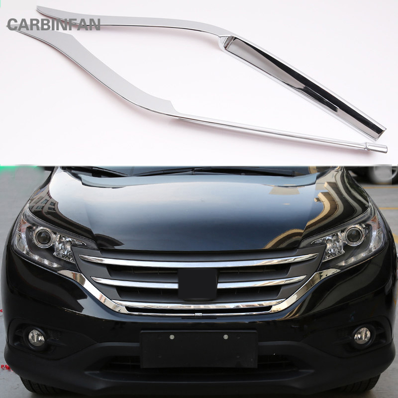 ABS Chrome Racing Grills Front Net Decorative Trim Sticker For Honda CRV CR-V 2012 2013 2014  Car Accessories   C558