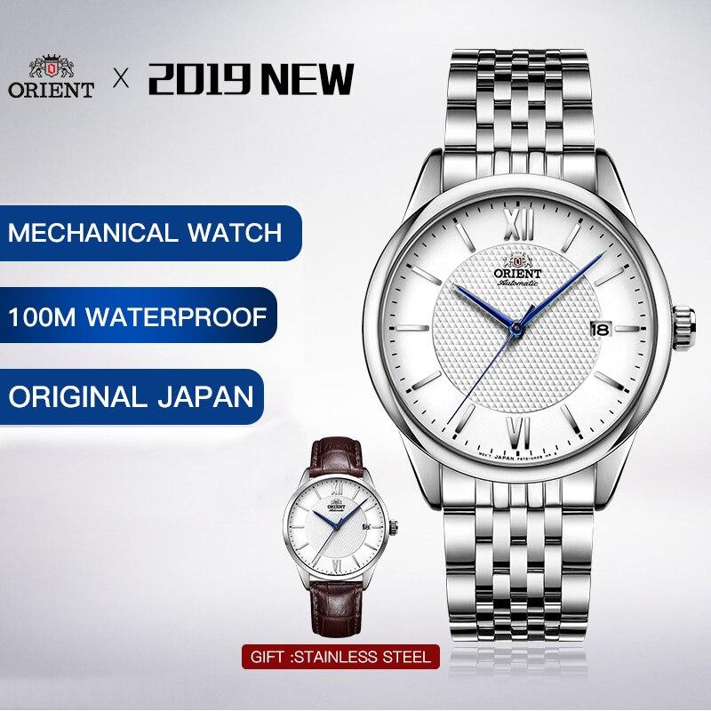Saatler'ten Mekanik Saatler'de 100% Orijinal Orient erkek saati Otomatik Mekanik 100 m Derinlik Su Geçirmez Mekanik El Rüzgar Otomatik Self rüzgar Garanti'da  Grup 1
