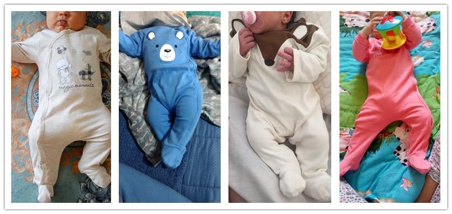 HTB1CbkvXLvsK1Rjy0Fiq6zwtXXa8 2019 3 4 pcs/lot Summer Baby Boy roupa de bebes Newborn Jumpsuit Long Sleeve Cotton Pajamas 0-12 Months Rompers Baby Clothes