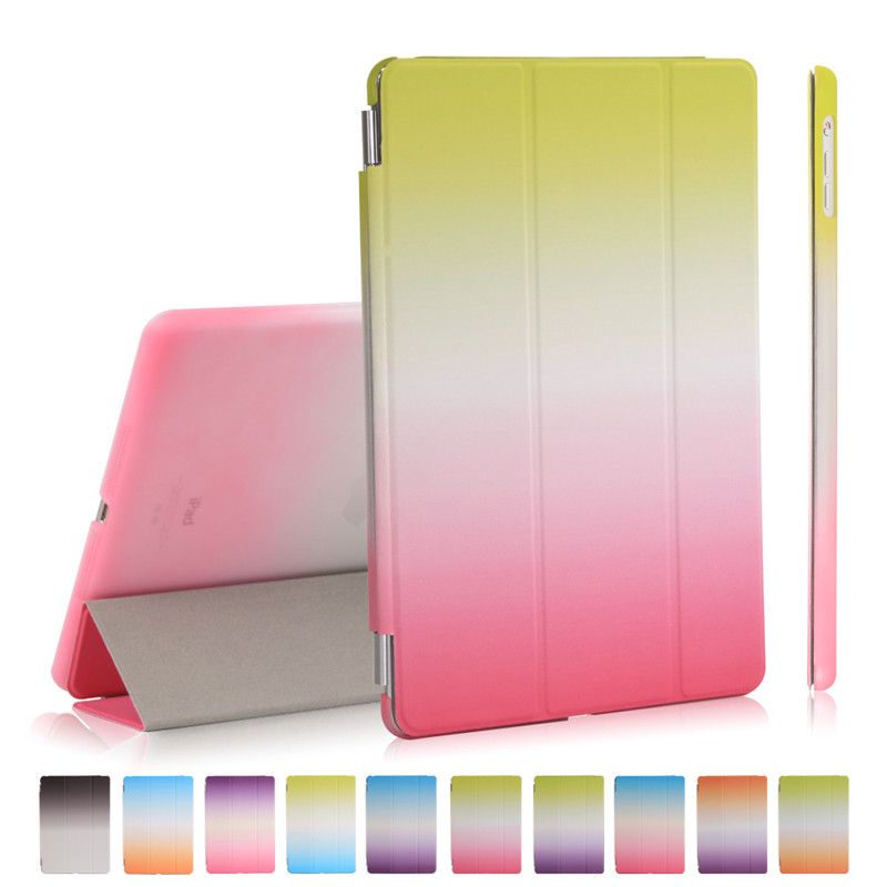smart case for ipad air fashion design rainbow gradient wake up sleep for apple ipad 5 9 ...