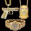 Bijoux Bling Bling Hip Hop Pendentifs Collier Montre