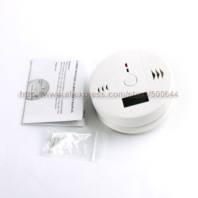 Home Security Carbon Monoxide Alarm Gas Sensor Warning CO Detector with LCD Display & 2PCS/Lot Free Shipping