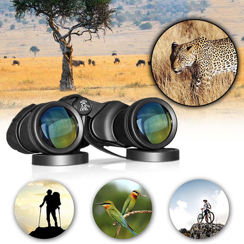 waterproof large wide angle outdoor hiking 20x50 HD powerful Military binocular night vision for Hunting camping