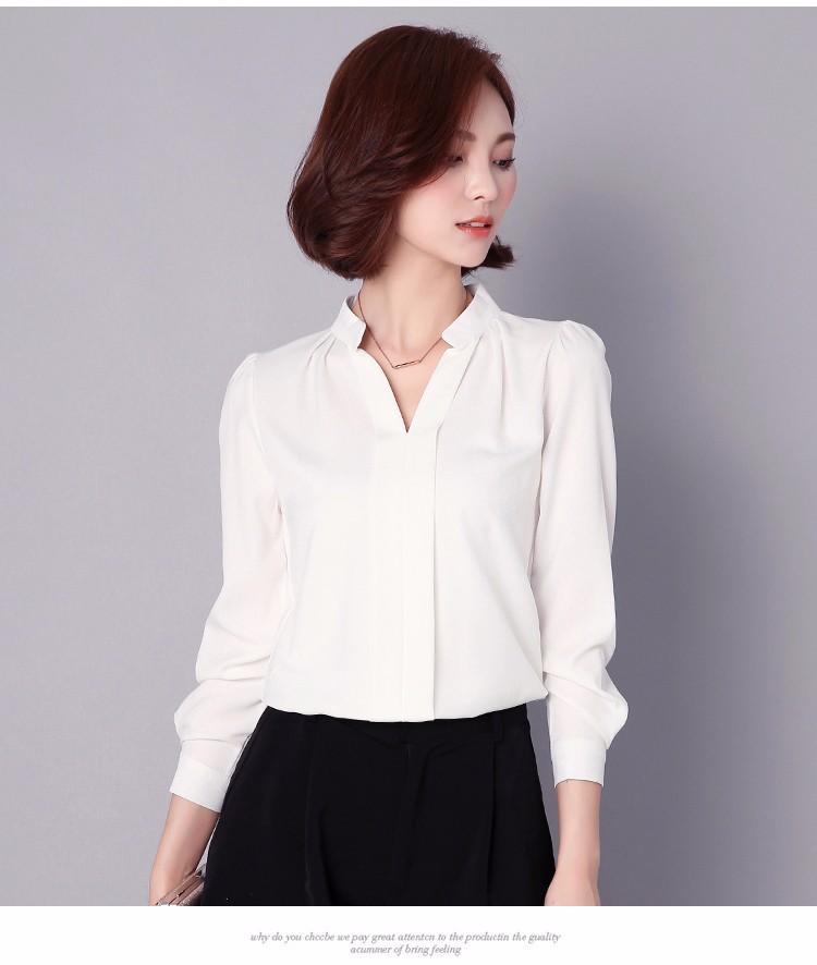 HTB1CblULpXXXXaMaXXXq6xXFXXXN - Long Sleeve Elegant Ladies Office Shirts Fashion Casual Slim Women