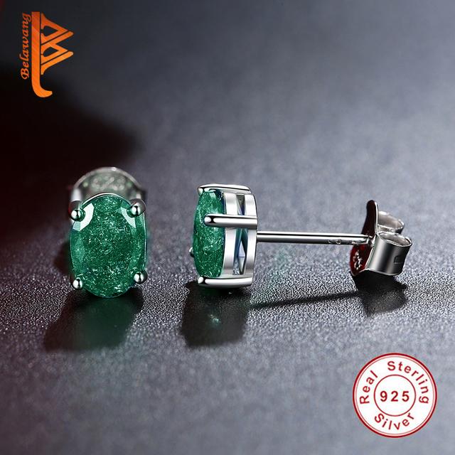 Fashion Jewelry Earring For Women Green Austrian Crystal Stud Earrings Stone Boucle d'oreille Wedding