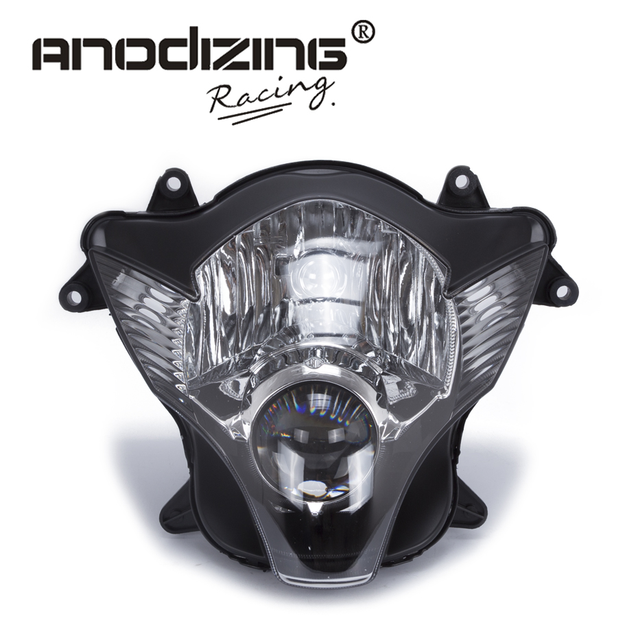 Black Headlight Lens Cover Shield For Suzuki GSXR600 GSXR750 2006-2007 K6 Auto Parts & Accessories Motorcycle Parts