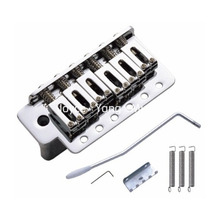 цена Chrome Electric Guitar Bridge Tremolo Bridge System For Fender Strat Style Electric Guitar Free Shipping в интернет-магазинах