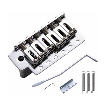 Niko Chrome Electric Guitar Bridge Tremolo Bridge System For Fender Strat Style Electric Guitar Free Shipping floyd rose double locking tremolo system bridge for electric guitar parts black 24bd