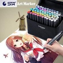 駅プロツイン落書きマーカーペンセット 128 マンガアニメデザインペン落書き着色スクラップブック子供、大人のための描画アルコールマーカー