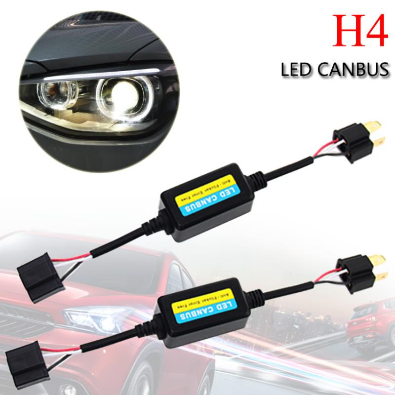2pcs H4 Car LED Headlight Decoder Canbus Error Free Load Resistor Car Warning Canceller Capacitor for Auto Car c3 5 can bus hid warning canceller capacitor decoder black 2 piece