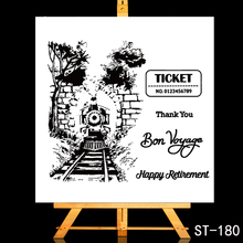ZhuoAng Friend, bon voyage Transparent and Clear Stamp DIY Scrapbooking Album Card Making Decoration