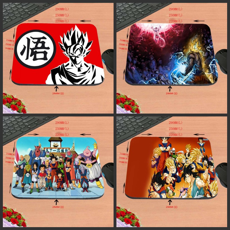 New Arrival Hot Sale Luxury Printing Anime Dragon Ball Skin Non Slip Durable Rubber Mousepad for PC Optal Mouse aming Mat