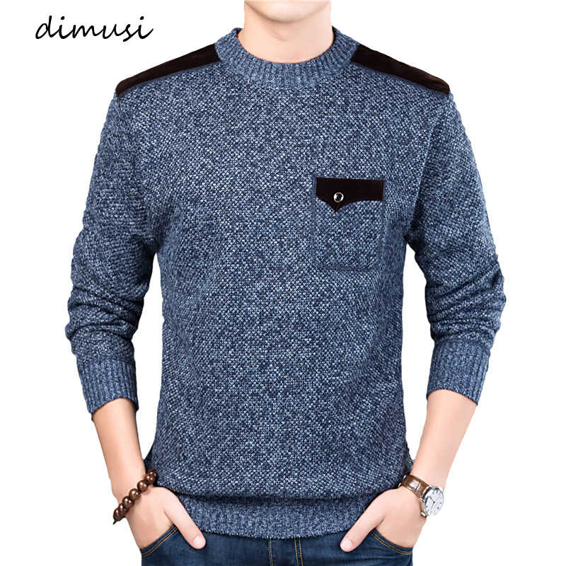 DIMUSI Autumn Winter Men's Sweater Men's Turtleneck Solid Color Casual Sweater Men's Slim Fit Brand Knitted Pullovers 3XL,TA309