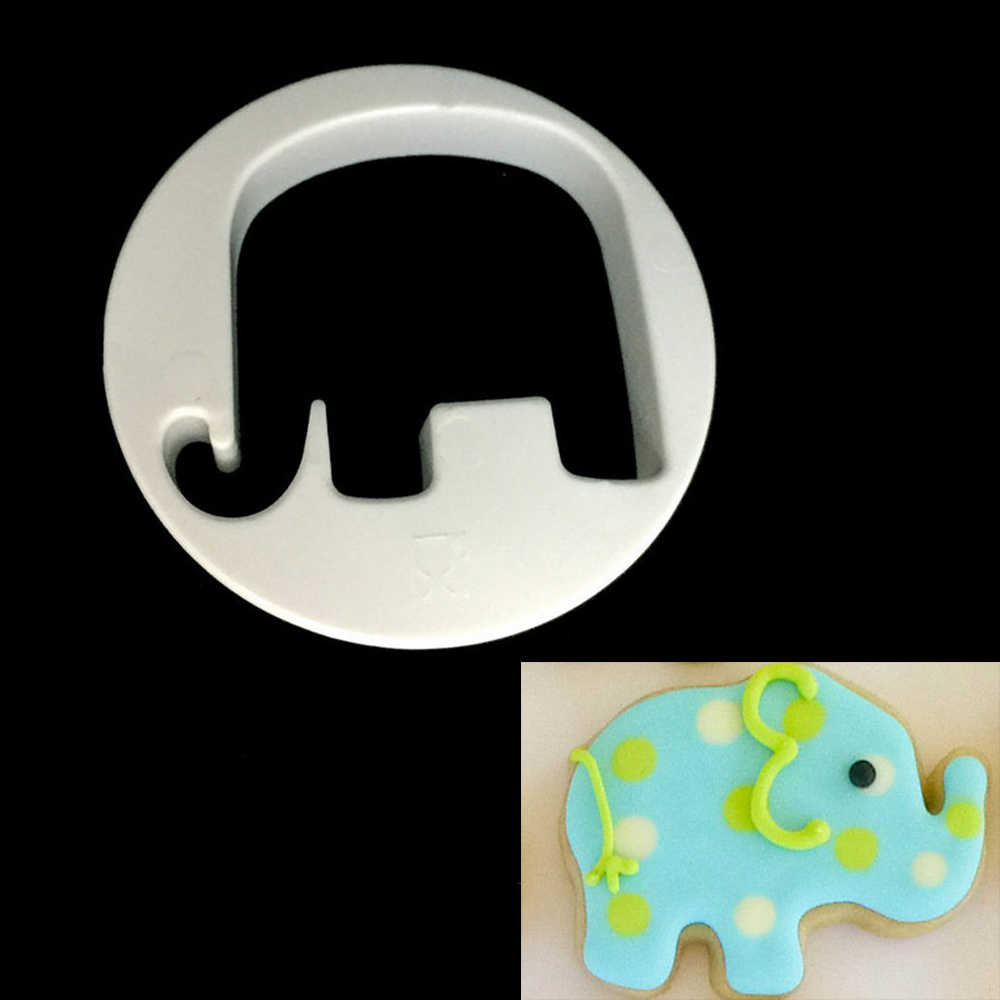 1PC Animal Elephant Cookie Cutter Dough Pastry Fruit Fondant Cake Chocolate Decorating Mold DIY Kitchen Baking Moulds