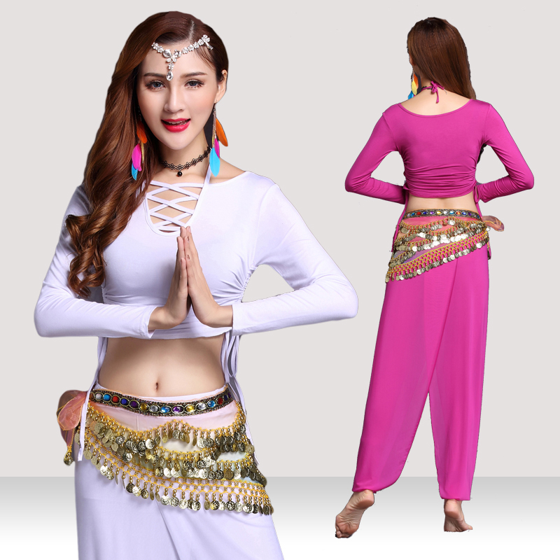 Comfort Belly Dance Costumes For Women Tops+Pant Bollywood Professional Practice Clothing BellyDance Dress DanceWear BL1526