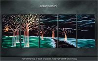 Art Abstract Special /dream scenery Original Modern Metal Wall Indoor Outdoor Decor