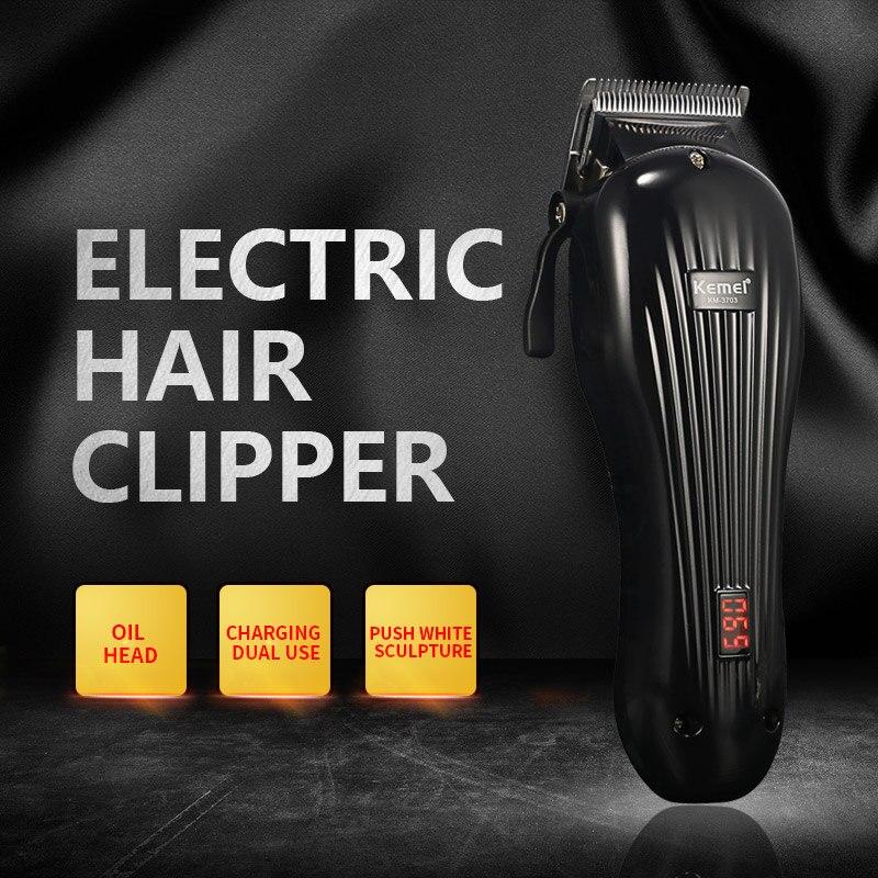 Moteur rotatif Rechargeable tondeuse cheveux professionnel tondeuse cheveux rasage Machine cheveux coupe barbe rasoir électrique - 3