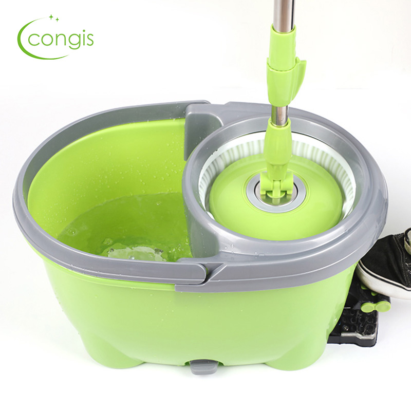 Congis Four-drive Rotary Spinning mop Pedal Automatic Dehydration Dry Mops for house cleaning Home kitchen tools