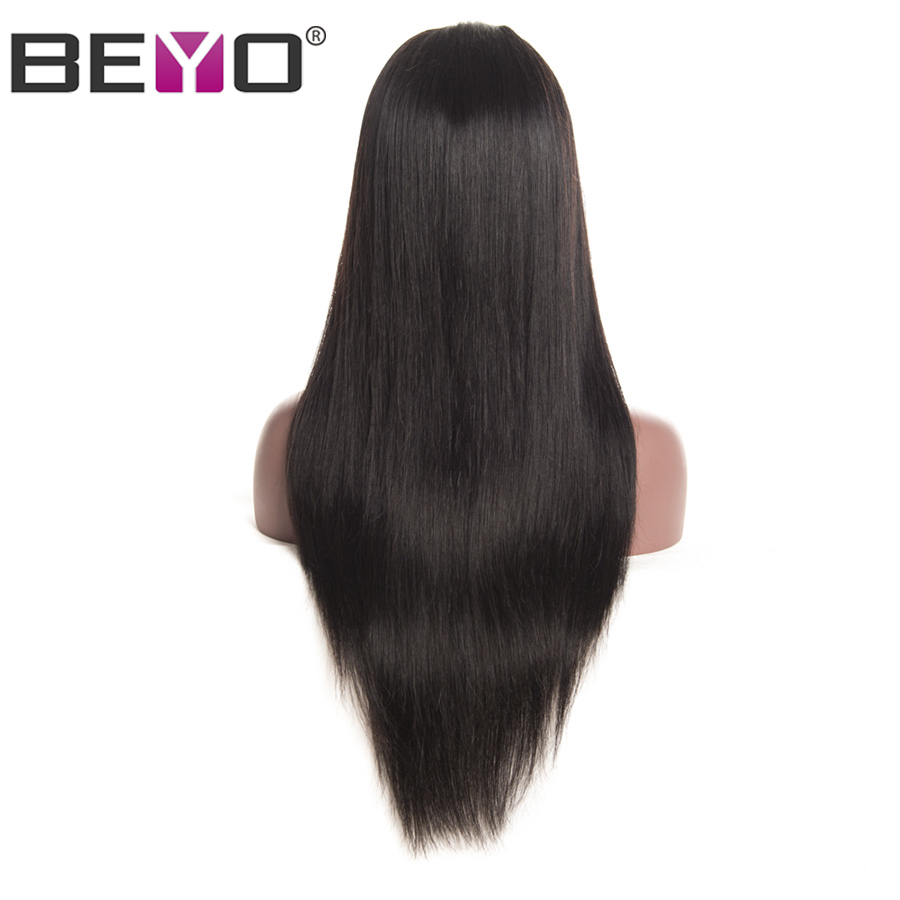Straight Wig 360 Lace Frontal Wigs With Baby Hair 150% Density Lace Front Human Hair Wigs For Women Peruvian Hair Remy Beyo