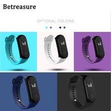Betreasure Bluetooth 4.0 Smart Band Фитнес трекер Браслет сердечного ритма Мониторы Шагомер Смарт Браслет для Android IOS Телефон