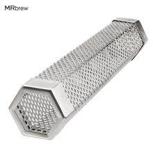 Pellet Smoker Tube, 12'' Hexagon Perforated 304 Stainless Steel Smoke Generator with 5+ Hours of Billowing Smoke for Any Grill