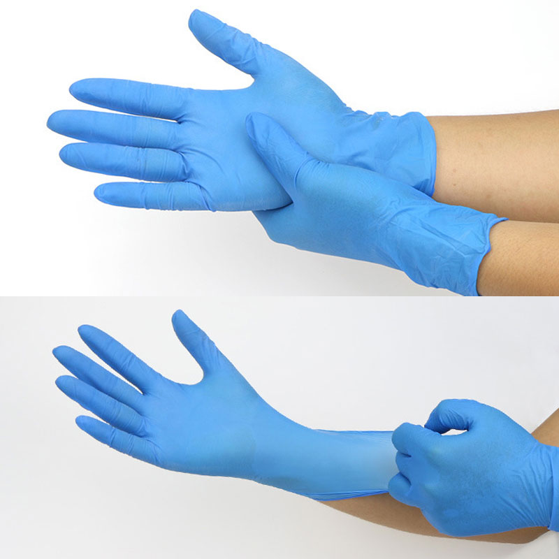 Dropshipping 100 Pcs/Set Disposable Nitrile Latex Gloves Home Use Cleaning Cooking Medical Gloves S-L SMJ