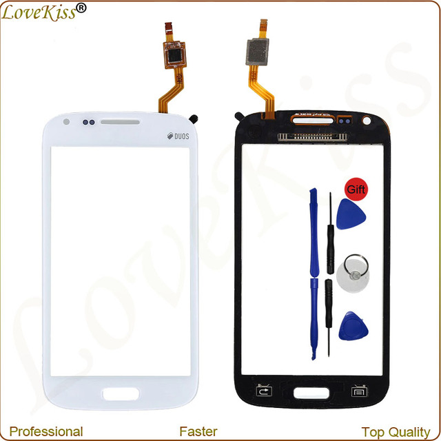 GT-i8262 Front Panel Digitizer For Samsung Galaxy Core i8262 i8260 Duos 8260 8262 Touch Screen Sensor LCD Display Glass TP Lens
