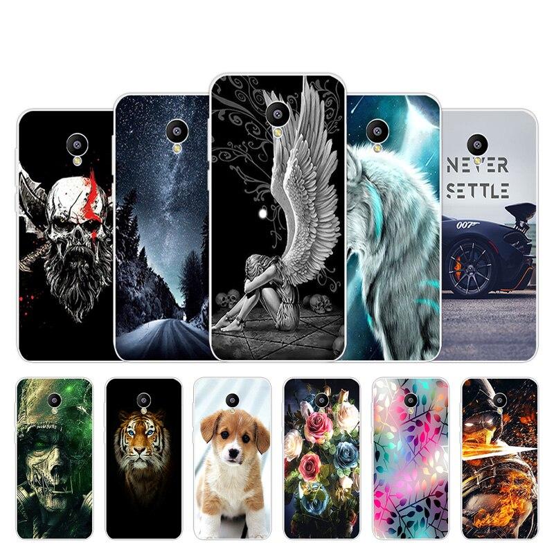 for Meizu M2 Mini Cases 5 inch Ultrathin Soft TPU Skin Back Phone Cover Lovely Design for Meizu M2 mini Meilan 2 Clear Silicon