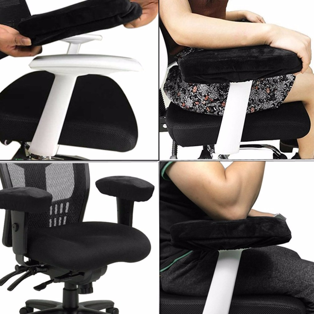 2pcs Chair Armrest Pads Ultra-Soft Memory Foam Elbow Pillow Suppor Fit For Home Office Chair Elbow Relief Drop Shipping