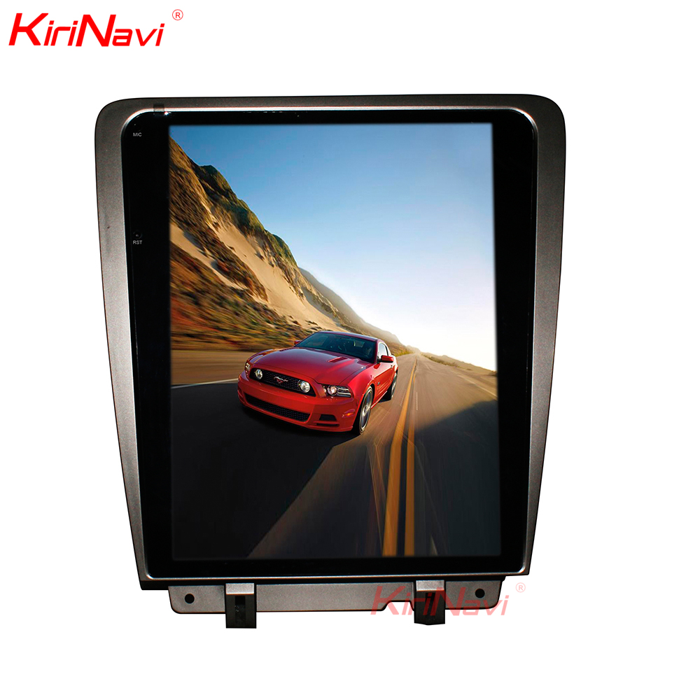 KiriNavi Android 7.1 écran Vertical Tesla Style autoradio 12.1 pouces pour Ford Mustang GPS Navigation écran tactile Bluetooth