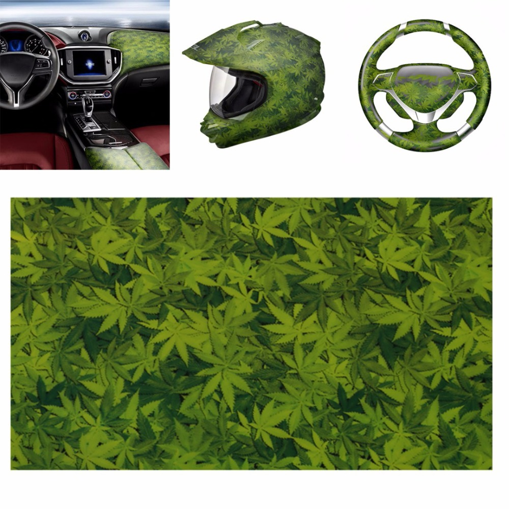 Water Transfer Film Green Leaves Hydrographic Transfer Water Film Hydro Dipping Film Car Decor