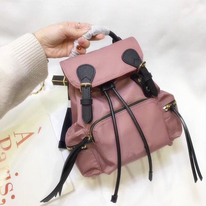 2018 самый модный стиль высокого качества холст рюкзак женский многоцелевой мешок известный бренд воловья кожа рюкзак бесплатная доставка