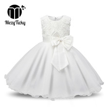 Baby Girls Bow Princess Dress Summer Kids Tutu Wedding Birthday Party Teenager Flower Dresses Children Elegant Christmas Costume fashion baby girls summer elegant bridesmaid wedding sequin bow dress kids formal prom party princess tutu pageant vest dresses