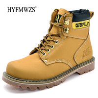 HYFMWZS Big Size 35 45 Krasovk Unisex Hiking Boots Waterproof Boots Men Leather Outdoor Shoes Women Mountain Hiking Shoes 2018