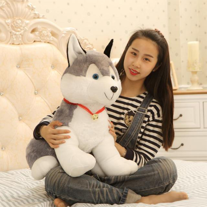 big lovely plush Husky toy new husky dog doll gift about 70cm stripes sweater design prone husky largest 165cm gray husky dog plush toy sleeping pillow surprised christmas gift h907