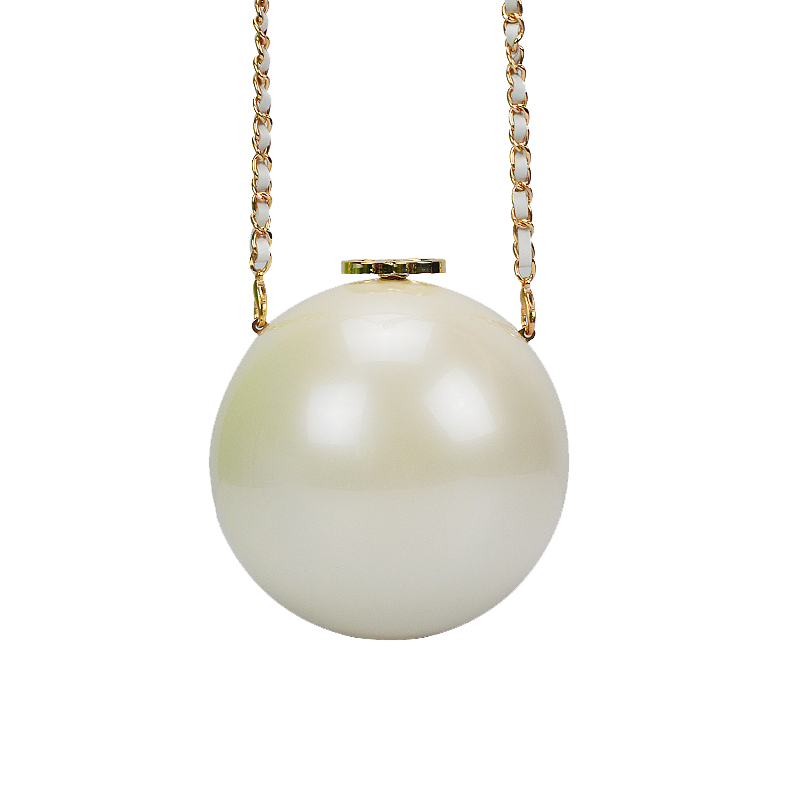 Pearl Ball Shaped Evening Bag Ladies Handbag Women Round Shoulder Wedding Bags
