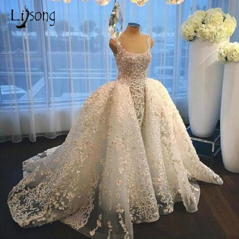 New Design Wedding Dress Ball Gowns Puffy Hem Bridal Formal Gowns Floor Length Custom Made Dubai Middle East Brides Gowns Long
