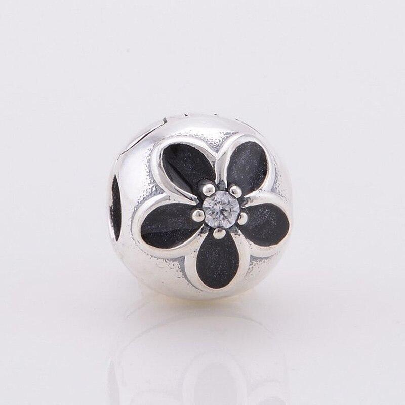 clip pandora fiore nero