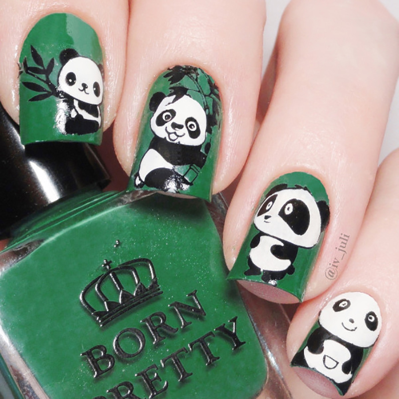 Born pretty 1 verde botella 10 ml regular esmalte de uñas oscuro de ...