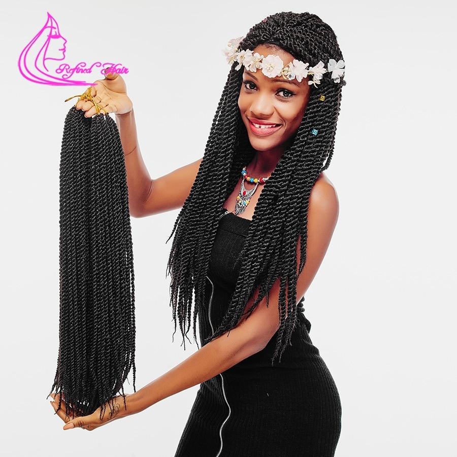 Изысканный волос 12 14 16 18 22 Inch корни вязанная косами Сенегальский крутить Ombre канекалон крючком коса, плетение волос расширения ...