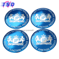 4Pcs Arc Surface Hub Caps Wheel Center Blue Badge For JP Logo For Luxgen LOTUS Lincoln