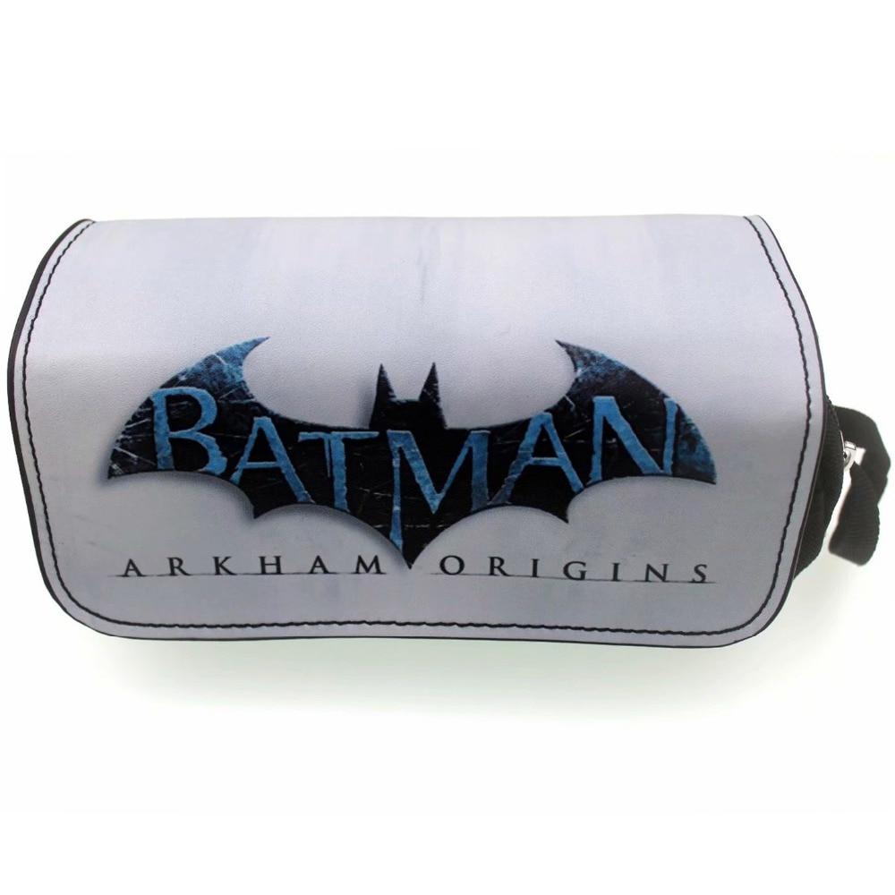 New 2018 Leather Canvas Pencil Bags Marvel Hero Batman Captain America Superman Wonder Woman Spiderman Deadpool Cosmetic Cases