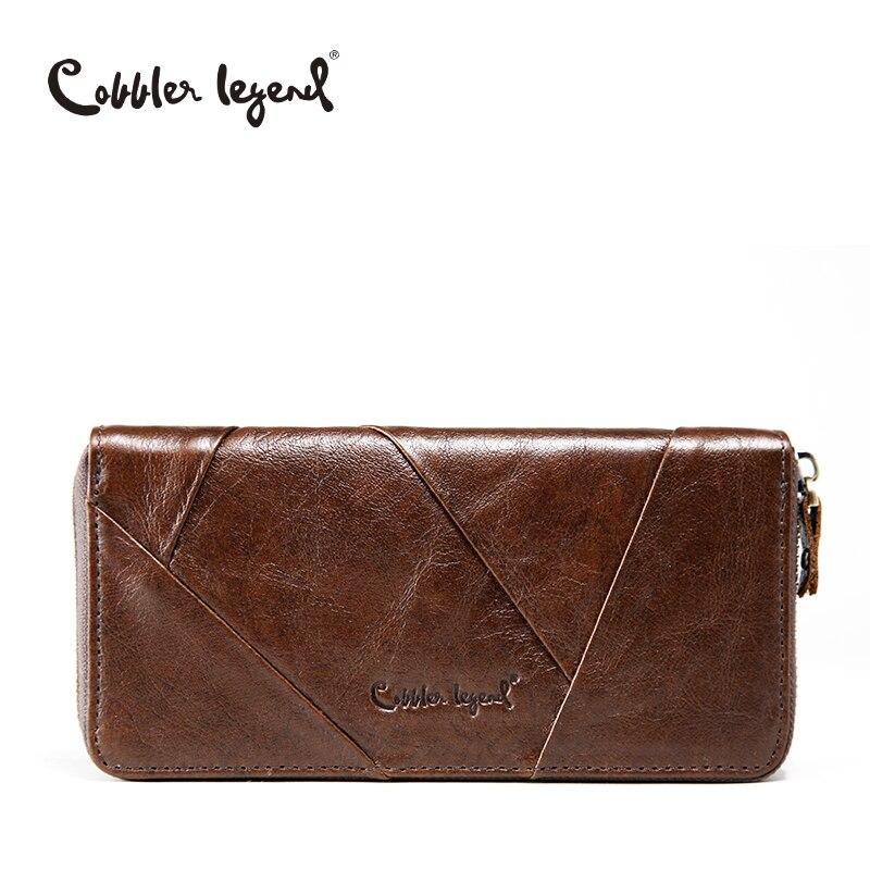 Cobbler Legend 2017 New Retro Trend Women s Wallets For Lady Genuine Leather Thin Clutch Wallet