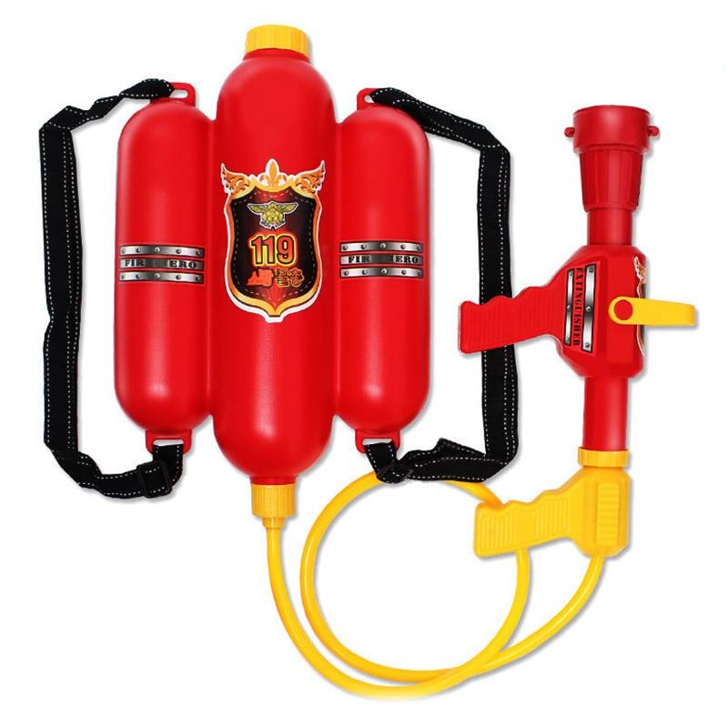 Water Gun Fireman Backpack Summer Beach Games Cosplay Firefighter Toys Fireman Party Water Toys For Children