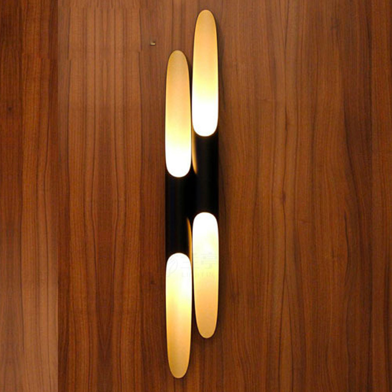 Modern wall lights for bedroom hallway lamp golden luxury High quality source double pipe bedside lights